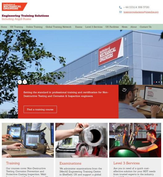 IMechE Engineering Training Solutions Launches New Website