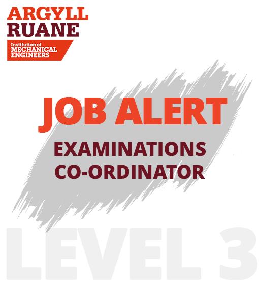 Job Alert – Examinations Co-ordinator